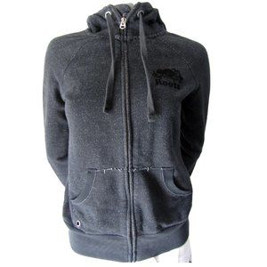 Roots Heathered Charcoal Grey Light Hoodie XS